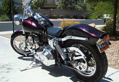 1973 harley davidson shovelhead art custom fx1 purple grape ghost flames graphics paint