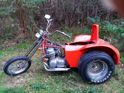 1974 Honda Custom Trike CB 750 Chopper Project for sale by owner in WI