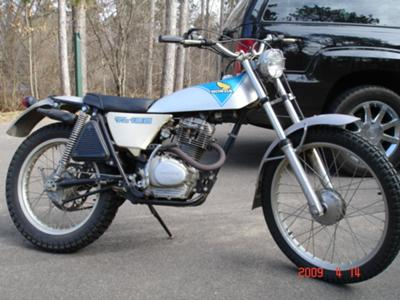 1974 Honda TL125 (this photo is for example only; please contact seller for pics of the actual dirt bike for sale in this classified)