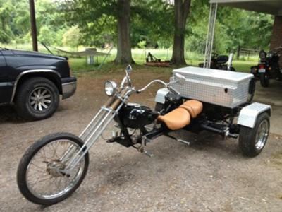 Rebuilt 1974 VW trike chopper with springer front end