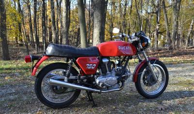 1975 Ducati 750 GT (example only; please contact seller for pics)