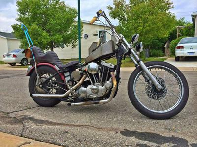 1975 Harley Davidson Ironhead Sportster Chopper Project Motorcycle