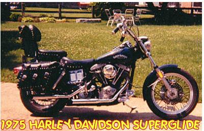 vintage 1975 harley davidson super glide superglide motorcycle