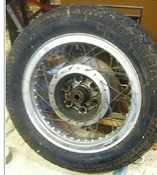 1975-1979 Honda Goldwing GL1000 Rear Spoked Wheel