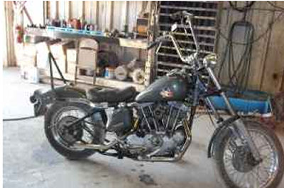 1976 Harley Davidson Sportster Rigid Wide Glide Front Rigid Tail