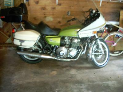 Muskrat Green 1976 Honda 750  Automatic Motorcycle