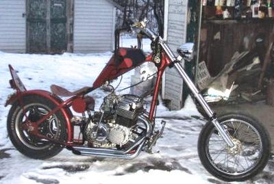 Custom 1976 Honda CB750 Chopper