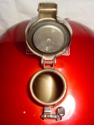1976 HONDA CB750 FUEL TANK - ORIGINAL HONDA ANTARES RED COLOR PAINT (this photo is for example only; please contact seller for pics of the actual motorcycle parts for sale in this classified)