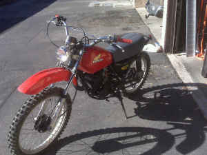 Tahitian Red Color Honda 175 Elsinore 1976 175cc