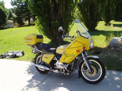 Yellow 1976 Honda Goldwing