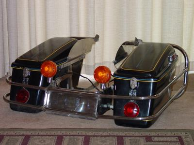 1976 Honda Goldwing GL1000 Hard Side Bags Wired for Lights