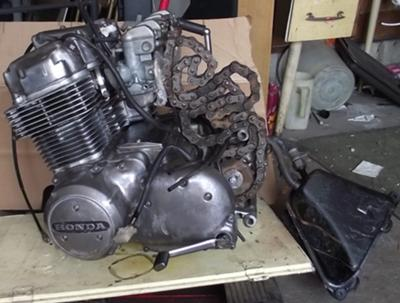 1977 Honda CB750 Engine