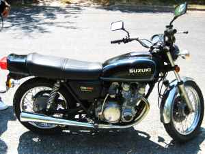1977 Suzuki GS550 (example of the bike for sale)