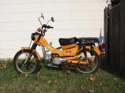 Mustard Yellow 1978 Honda CT90