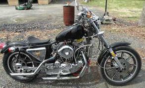 Black 1979 Harley sportster 1200cc Streetcam Engine Cooler