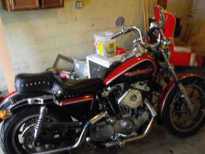 1979 Harley Davidson Sportster XLH 1000 Red and Black