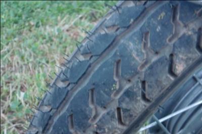 1979 Honda Twinstar 185cc Motorcycle Tire Tread