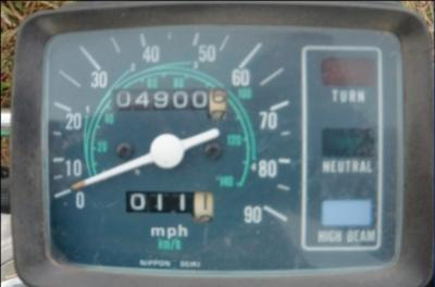 1979 Honda Twinstar 185cc Motorcycle Odometer