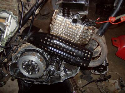 Engine of the 1979 Honda XR250 parts motorcycle (example only; please contact seller for pics)