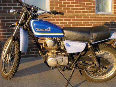 1979 Kawasaki Enduro KL 250 (this photo is for example only; please contact seller for pics of the actual motorcycle for sale in this classified)