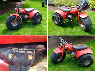 1980 Honda Big Wheel 110 cc ATV