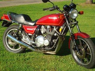 Red 1980 Kawasaki KZ1000j