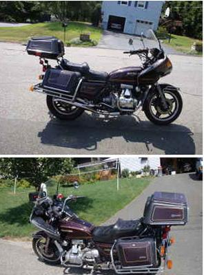 1981 Honda Goldwing GL1100  (this photo is for example only; please contact seller for pics of the actual motorcycle for sale in this classified)