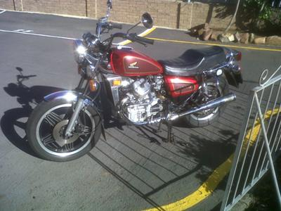 1982 Honda CX500C with Candy red motorcycle paint (this photo is for example only; please contact seller for pics of the actual motorcycle for sale in this classified)