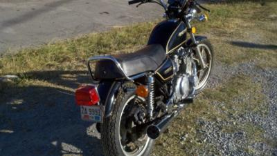 1982 Suzuki  GS550T Rear Fender and Wheel View