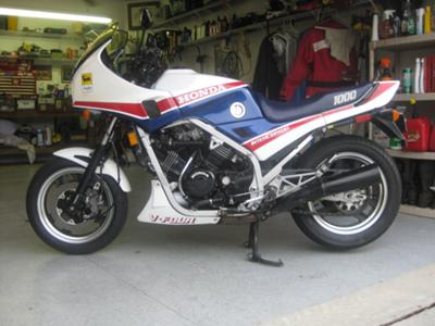 1984 Honda 1000 Interceptor Red White and Blue