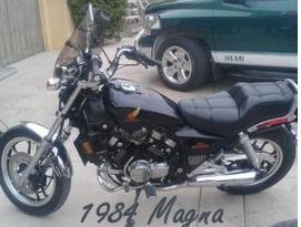 Black 1984 Honda Magna