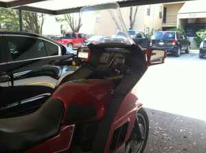 1985 BMW K100RT MOTORCYCLE w Candy Apple Red Paint Color and Custom Fairing