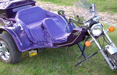 1985 VW Trike with a purple custom paint job