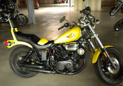 1985 yamaha virago yellow bright paint