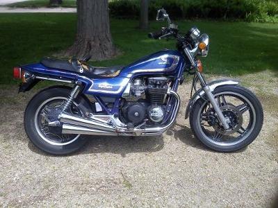 Blue 1986 Harley Davidson Nighthawk