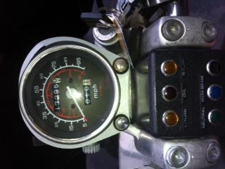 1986 Honda Rebel 450 Odometer Speedometer