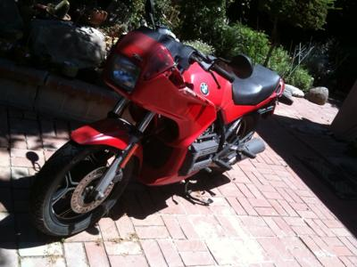Red 1987 BMW K75S