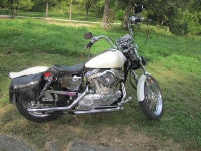 Pearl White 1987 Special Edition Harley Davidson Sportster
