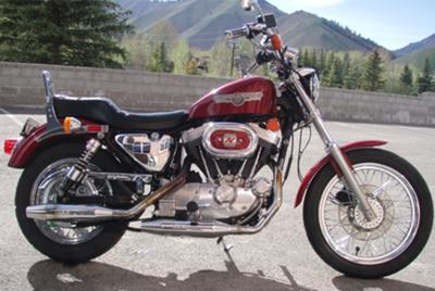 Burgundy 1989 Harley Davidson Sportster 1200 w Yost Performance carb kit