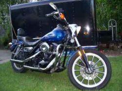 Cobalt Blue 1989 Harley Davidson FXR Superglide Lowrider