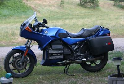 Royal Cobalt Blue and Black 1990 BMW K75s