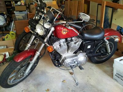 1992 Harley Davidson XLH Sportster 883 W Red Paint Color