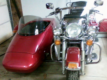 1993 HARLEY DAVIDSON FLH FULL DRESS HARLEY WITH SIDE CAR