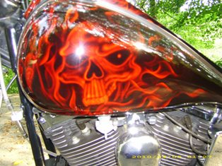 1993 Harley Davidson Softail Custom 1340 Gas Tank Graphics Artwork Painting