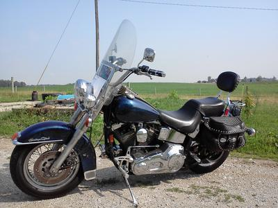 1993 Harley Davidson Heritage Softail motorcycle once owned by Michael Ballards