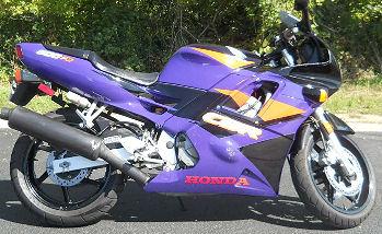Purple and Black 1994 Honda CBR 600 F2 in Clean Stock Condtiion