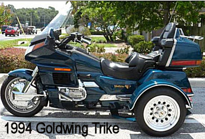 1994 Honda Goldwing GL1500 Aspencade Trike Motorcycle with Three (3) Wheels