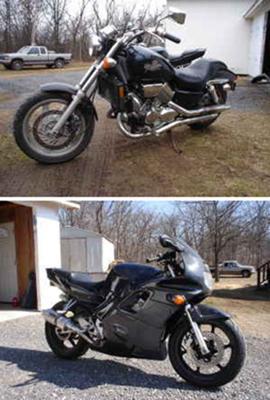 1994 Honda CBR 600 F2 and 1994 750 Magna