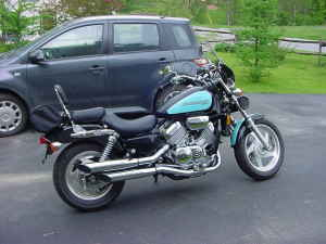 1995 Honda Magna VF 750 CD turquoise blue black (example only; please contact seller for pics)
