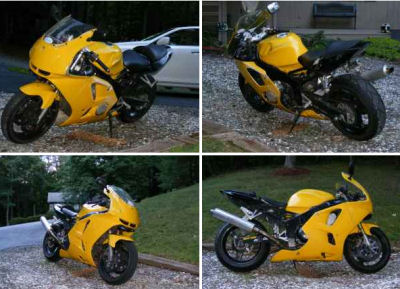 Bright Yellow 1995 Kawasaki Ninja ZX6R